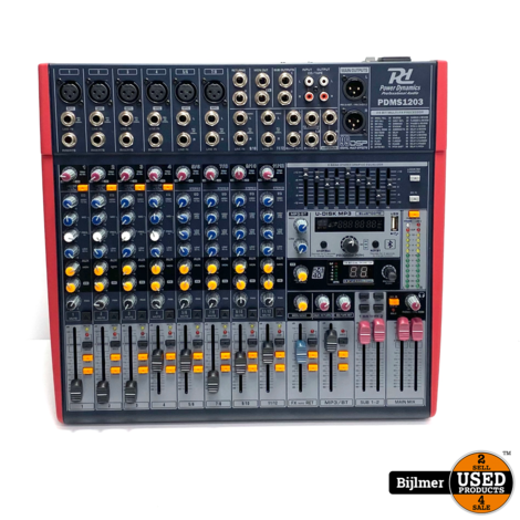 PDM-S1203 Stage Mixer 12-Kanaals DSP/MP3 USB IN/UIT   Nette staat
