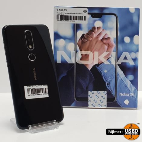 Nokia 6.1 Plus 64GB Black Dual Sim | nette staat