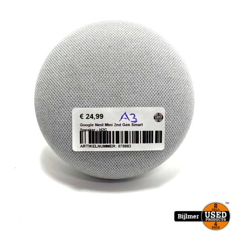 Google Nest Mini 2nd Gen Smart Speaker - H2C