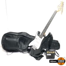Gear4Music Electrische gitaar met versterker en tas | Nette staat