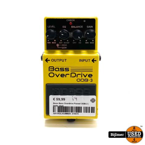 Boss Bass Overdrive Paneel ODB-3   Nette staat