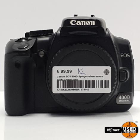 Canon EOS 400D Spiegelreflexcamera Body   Nette staat