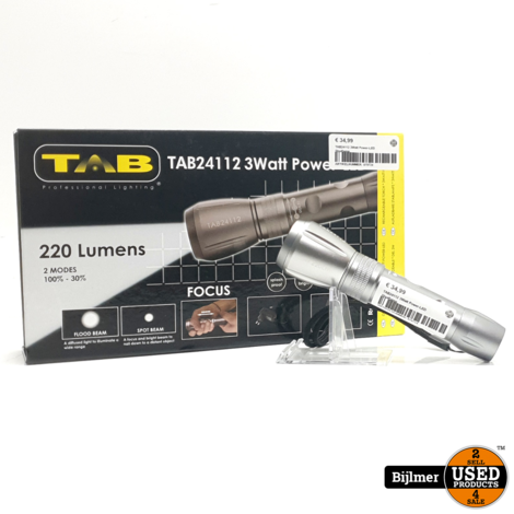 TAB24112 3Watt Power-LED Staaflamp