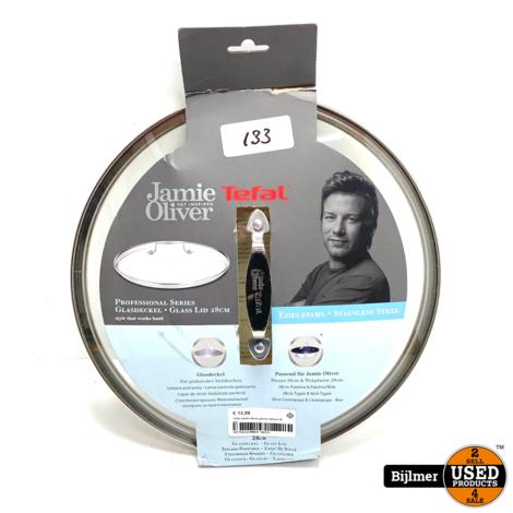 Tefal Jamie Oliver glazen deksel 28 cm B89987