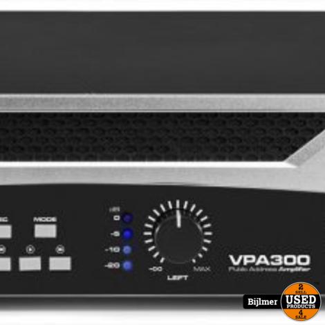 Vonyx VPA300 versterker 2x 150W met Bluetooth en mp3 speler