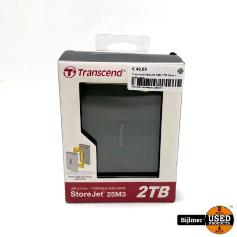 Transcend StoreJet 25M3 2TB Zwart | Nette staat