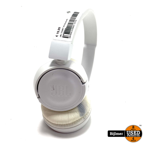 JBL T450BT Wit Bleutooth Koptelefoon