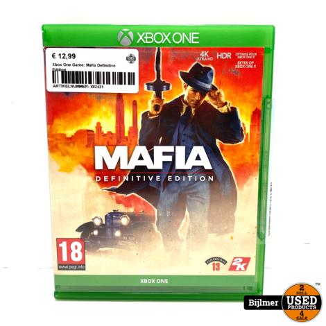 Xbox One Game: Mafia Definitive Edition
