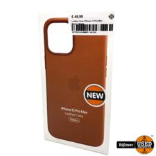 Leather Case iPhone 12 Pro Max Bruin | Nieuw