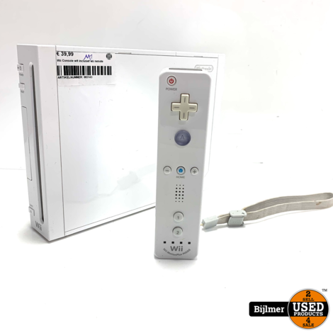 Wii Console Wit + Wii Controller