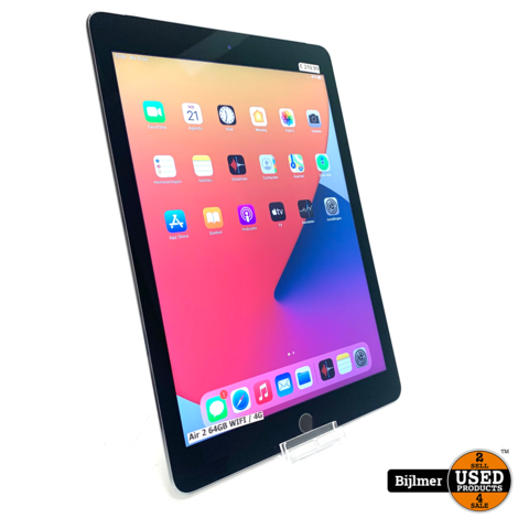 iPad Air 2 64GB WIFI / 4G Space Gray   Nette staat