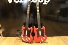 2x Gitaar PS2 + Guitar Hero