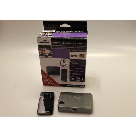 Marmitek HDMI Switcher 3 in /1 out 4K UltraHD | Met Garantie