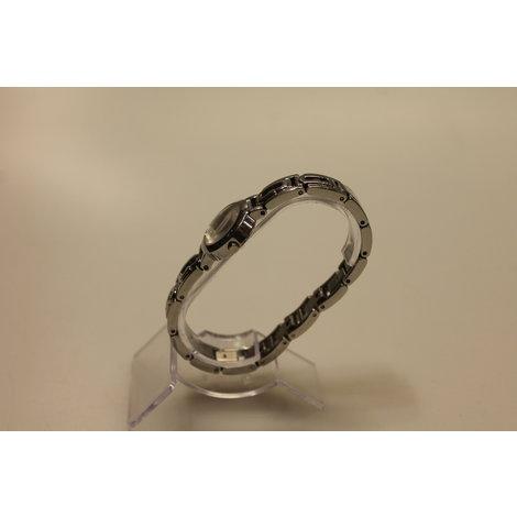 Guess Dames Horloge met zilveren band || ZGAN