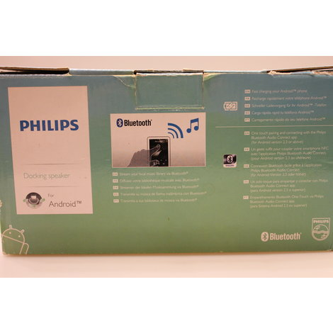 Philips AS130 Dockingstation met Bluetooth en lader + klok