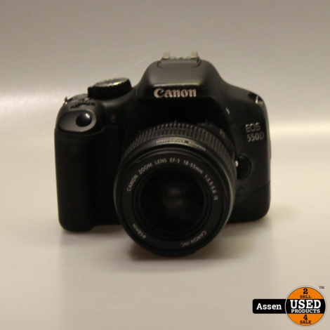 Canon EOS 550D + EFS 18-55mm Spiegelreflectie Camera 13% Clicks