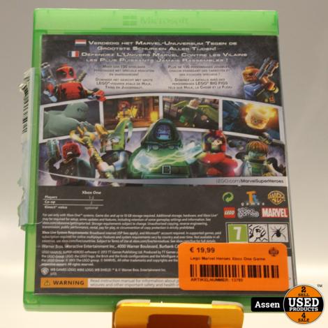 Lego Marvel Heroes Xbox One Game
