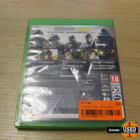 rainbow six siege xbox one game