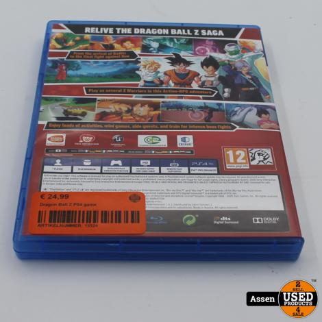 Dragon Ball Z PS4 game