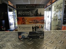 4K Ultra HD - 4 Film Collection (Assassin's Creed, Kingsman, Prometheus, The Martian) NIEUW