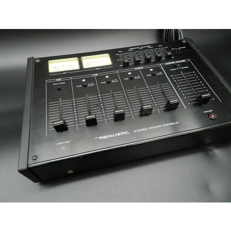 Vintage Realistic Stereo Mixing Console 4-kanaals - In Goede Staat