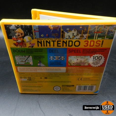 Super Mario Maker 3DS Game - In Prima Staat
