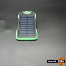 Solar Powerbank Groen 5000mAh - In Goede Staat
