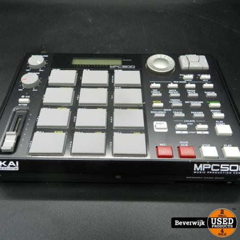 Akai MPC500 MIDI Sampling Drum Machine + 32MB Memory - In Goede Staat