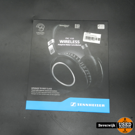 Sennheiser PXC 550 Wireless in doos - 30 hour lifetime