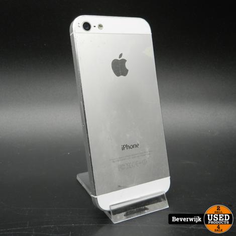 iPhone 5 16 GB Zilver  In Goede Staat