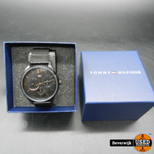 Tommy Hilfiger Tommy Hilfiger Th 344.1.34.2328 Zwart Heren Horloge In Nieuwstaat 1 maand oud!