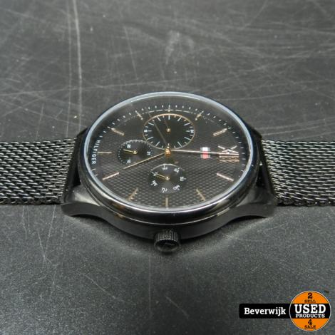 Tommy Hilfiger Th 344.1.34.2328 Zwart Heren Horloge In Nieuwstaat 1 maand oud!