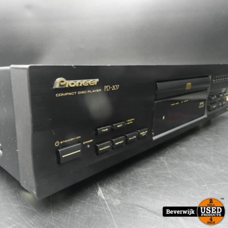 Pioneer PD-207 CD-Speler Zwart In Exclusief Afstandsbediening