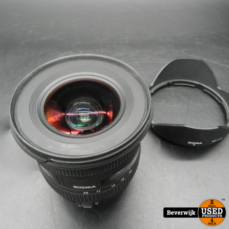 Sigma 10-20mm f/4.0-5.6 EX DC HSM Canon - In Goede Staat