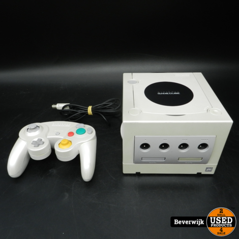 Nintendo GameCube Silver/Wit - Incl Controller - In Goede Staat