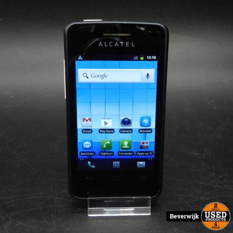 Alcatel One Touch T'Pop 4010 Zwart - In Goede Staat