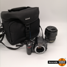 Nikon Nikon D3200 Spiegelreflexcamera + Nikon AF Nikkor 18-105mm - In Goede Staat