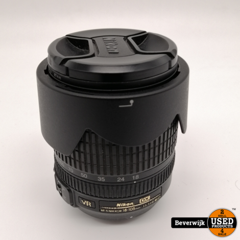 Nikon D3200 Spiegelreflexcamera + Nikon AF Nikkor 18-105mm - In Goede Staat