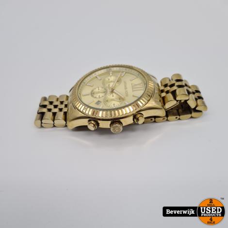 Michael Kors MK 8281 Herenhorloge Goud - In Goede Staat
