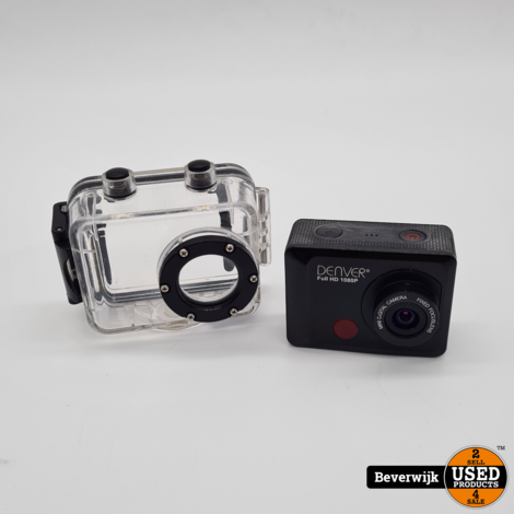 Denver Full HD Action Camera 1080p Wi-Fi - Zilver - In Goede Staat
