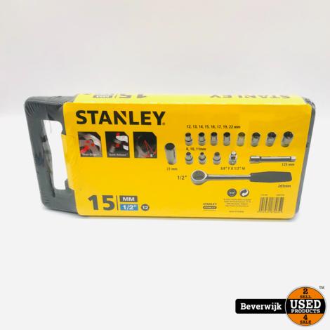 Stanley dopsleutelset 1 2 15-delig - NIEUW