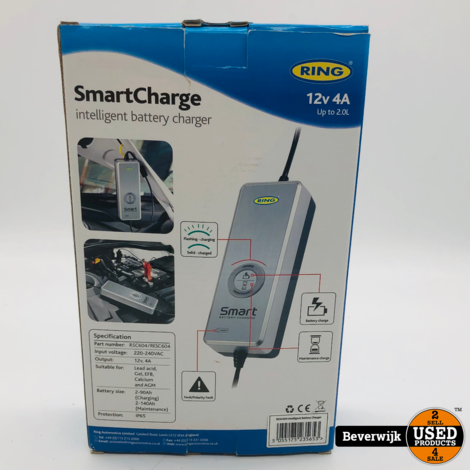 Ring SmartCharge  Acculader  12V  4A  - Nieuw