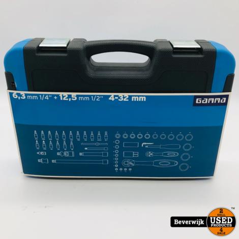Gamma Dopsleutelset 1/4-1/2 Inch 4-32 mm 56 Delig - Nieuw