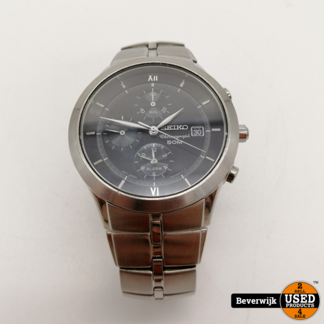 Seiko 7t62-0fx0 Chronograph 50 Meter - In Goede Staat