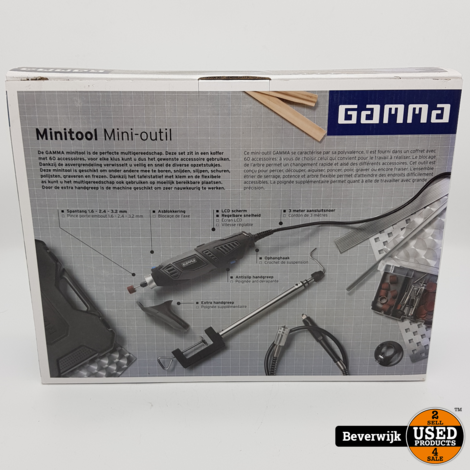 GAMMA MT-170LCD Multitool koffer en 60 accessoires - Nieuw