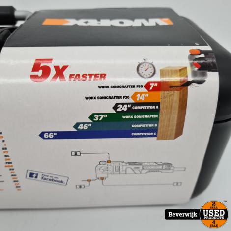 Worx Multitool WX681 450 Watt Hyperlock 5x Faster - Nieuw