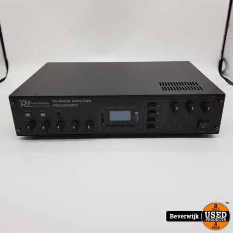 RH Power Dynamics PA Mixer Amplifier PDV120ZMP3 in Goede Staat