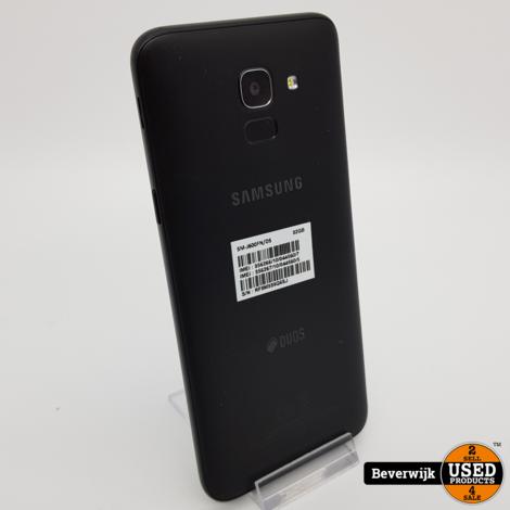 Samsung Galaxy J6 2018 Dual Sim 32GB Zwart - In Nette Staat