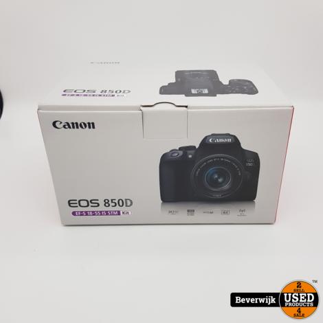 CYBER MONDAY DEAL! Canon EOS 850D + EF-S 18-55mm Digitale Spiegelreflexcamera - Nieuw
