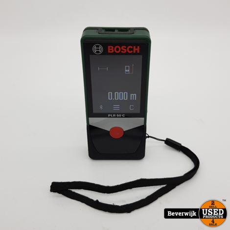 Bosch PLR 50 C infrarood Afstandsmeter - In Goede Staat